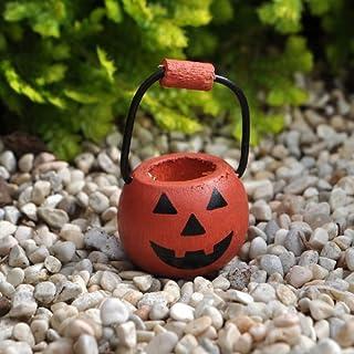 Miniature Fairy Garden Pumpkin Basket with Handle