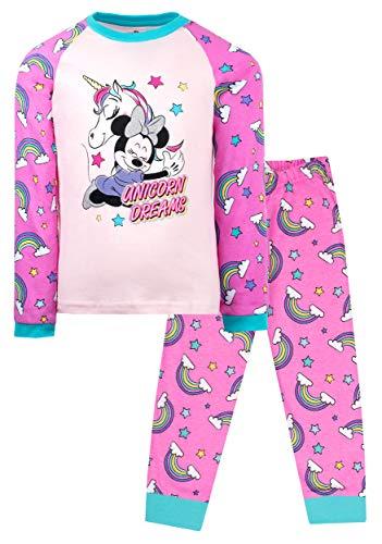 Juego de Pijamas Oficial de Minnie Mouse para Nias| Edad de 3-8 aos | Pijama de Minnie Mouse Unicorn Dreams | Disfraz de Minnie Mouse 100% Algodn | Mercanca Oficial