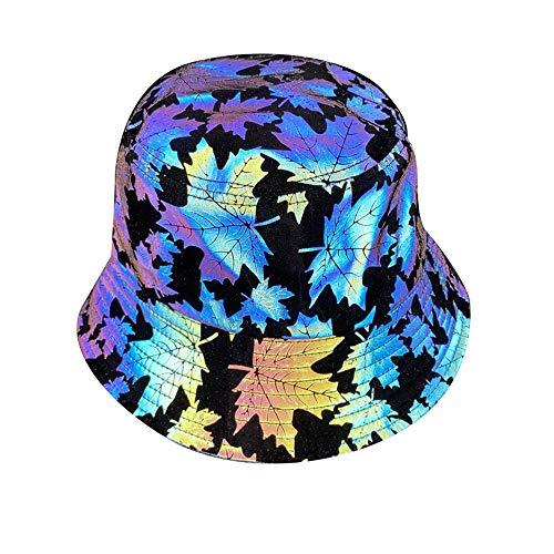 Hombres Mujeres Street Fashion Hip Hop Gorra Reflectante, Gorra de béisbol Luminosa Reflectante Sombrero de Pescador Sombrero de Deportes al Aire Libre