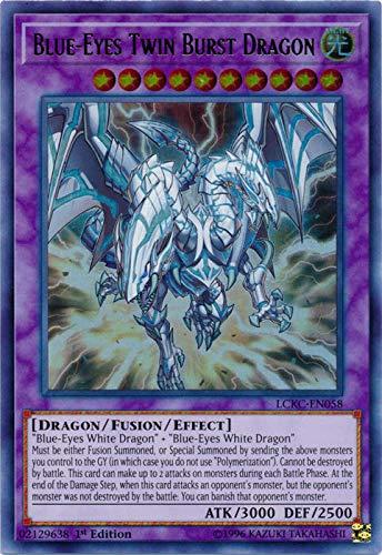 yu-gi-oh Blue-Eyes Twin Burst Dragon - LCKC-EN058 - Ultra Rare - 1st Edition - Legendary Collection Kaiba Mega Pack (1st Edition)