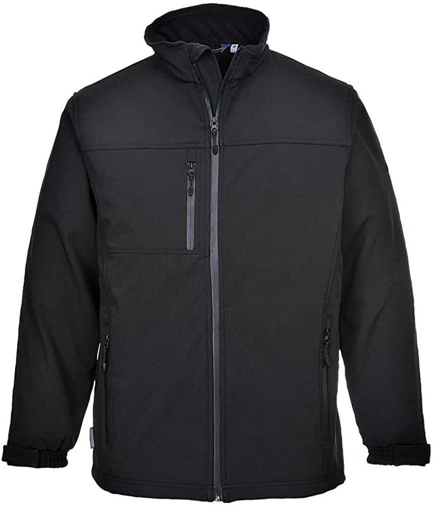 Portwest Softshell Jacket Windproof Water Resistant Outdoor Full Zip Luxury Coat