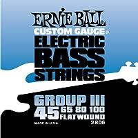 【 並行輸入品 】 Ernie Ball (アーニーボール) 2806 Flatwound Bass Set Group III (45 - 100)