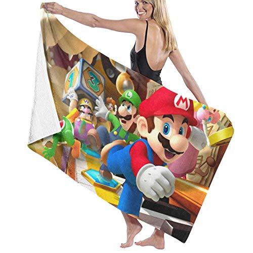 Super_Mario_Bros Toallas de baño extra grandes de secado rápido para ducha/nadar/acampar o playa, toalla de baño grande de 31.5 x 51.2 pulgadas