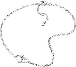 Finrezio Bracelet Cheville Cha/îne Pied pour Femme Fille Collier Cheville R/églables avec Breloque Diff/érente C/œur///Étoile de Mer//Feuille//Boule Lot de 9 Pi/èces