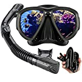 Best Womens Snorkel Masks - Dry Snorkel Mask Set Snorkeling Gear, Panoramic Wide Review