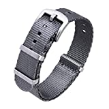 Ritche Nato Watch Strap with Heavy Buckle 18mm 20mm 22mm Premium Seat Belt Nylon Watch Bands for Men Women