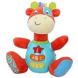 winfun - Peluche Jirafa para bebés que habla y luces de colores, Idioma:...