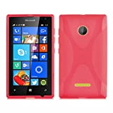 Cadorabo Hülle für Nokia Lumia 435 in Inferno ROT –