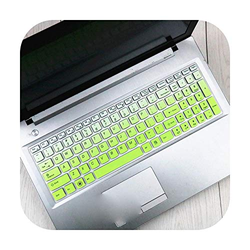 Silicone Keyboard Protector Cover Skin for Lenovo IdeaPad 300-15ISK 300-15 300 15ISK-GradualGreen-