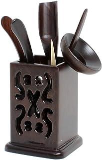 黒檀製 中国茶器 六君子 茶道具 茶器 6点セット 茶筒 茶則 茶入 茶針 茶挟 茶杓