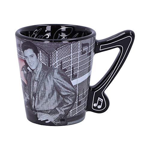 Weird Or Wonderful ELVIS – Copa ESPRESSO CADILLAC rosa de 3 onzas – Producto oficial coleccionable Nemesis Now Elvis Presley The King of Rock and Roll de cerámica