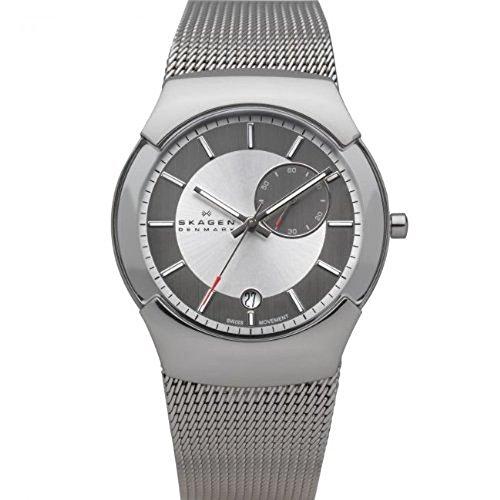 Skagen Herren-Armbanduhr XL Analog Quarz Edelstahl 983XLSSC