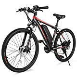 ANCHEER Electric Bike Commuter EBike 350W 26'' Electric Mountain Bike, 20MPH Adults Ebike with Removable 7.8/10.4Ah Battery, Professional 21 Speed Gears