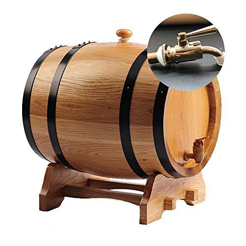 Ann-Portaghiaccio Botte di Rovere in Legno di Vino Vintage Legno di Quercia Legno del barilotto di Vino Dispenser, Rovere invecchiamento in Botte, for Whisky invecchiamento barile di Birra Rum Port
