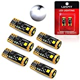 LASFIT 194 LED Light Bulb 6000K White 168 2825 W5W T10 3030 Chipsets LED Bulbs Canbus Error Free for License Plate Lights Dome Map Door Courtesy, Pack of 6