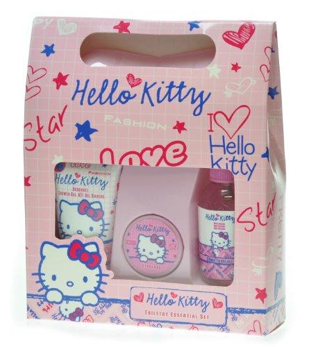 Hello Kitty Scribble Coffret Spray Hydratant Corps 60 ml + Gel Douche 50 ml + Gloss