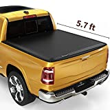 YITAMOTOR Soft Tri-Fold Truck Bed Tonneau Cover Compatible with 2019-2021 Dodge Ram 1500 New Body Style, Fleetside 5.7 ft Bed Without Rambox