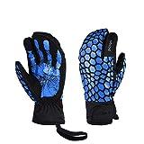 LANNIU Winter Ski Gloves,Men Thermal Gloves, Ski Mittens, Touch Screen Warm Thinsulate Gloves