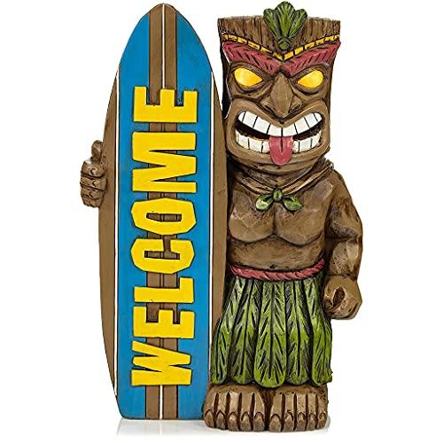 Kemelo Funny Maya Resina Tabla de Surf Totem Estatua Escultura Adorno de decoración de jardín, Adornos para el hogar