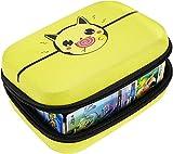 Yosuny Hard Compatible Case für Pokemon-Sammelkarten. Hält bis zu 400 Karten Spielegestell mit herausnehmbarer Trennwand (Gelb)