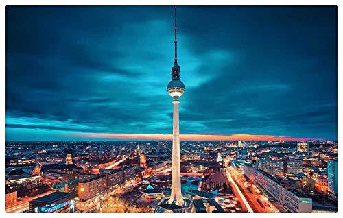 TWYYDP Puzzle Adulto 500 Piezas,Torre De Berlín De Noche,Foto Foto Decoracion Hogar