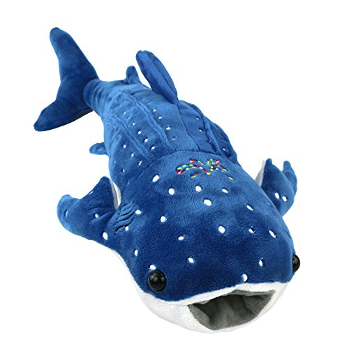 Houwsbaby Stuffed Shark Pillow for Baby Embroidery Plush Toy Birthday Gift Holiday Birthday, Blue, 20'' (Shark)