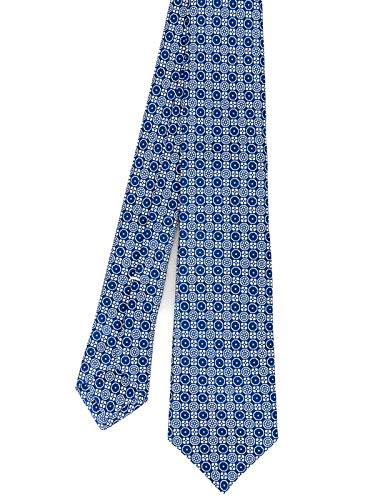 Kiton Herren 8E5004 Blau Seide Krawatte