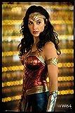 1art1 Wonder Woman Poster und Kunststoff-Rahmen - 1984,