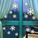 TYOLOMZ Snow Flakes Window Stickers Winter Snowflake Wall Stickers Christmas Window Wall Decals Xmas Christmas Decoration