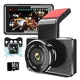 3 Full HD 1080P WiFi Dash Cam+Recul 170 Starlight Night Vision 150  Camra arrire 720P GPS Tableau de Bord Mode Parking Inverser la Vue Enregistrement en Boucle Dtection de Mouvement Capteur G