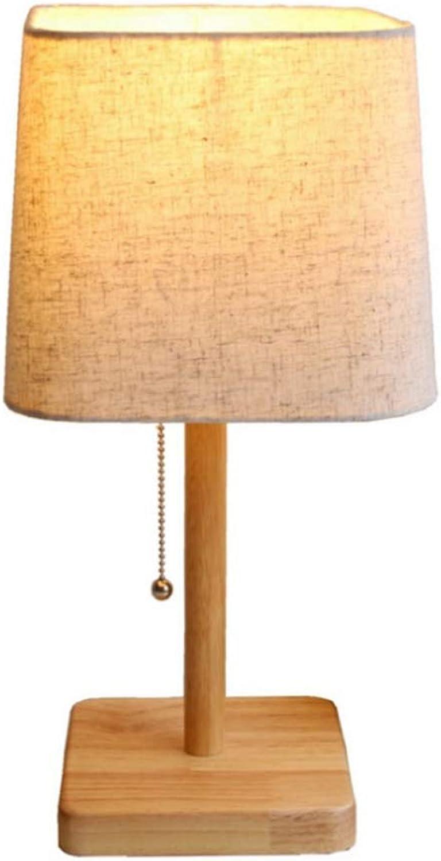 LED Leselampe im klassichen Schreibtischlampe Tischleuchte Holz Basis Design Schreibtischlampe Metall Zipper-Schalter Lampe Augenfreundliche Leselampe Arbeitsleuchte Bürolampe Nachttischlampe