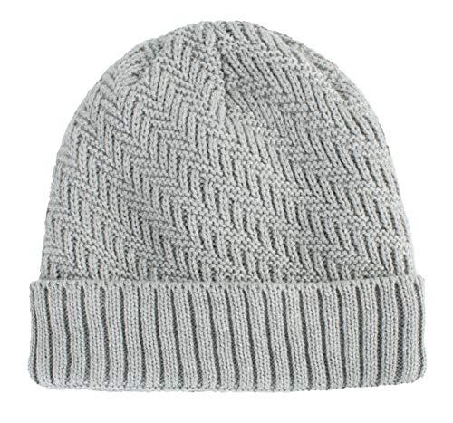Home Prefer Daily Knit Beanie Warm Hats Knit Skull Cap Winter Beanie Hat for Men Light Gray