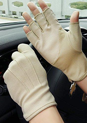 Guantes de ciclismo para hombre con medio dedo para protección solar de...