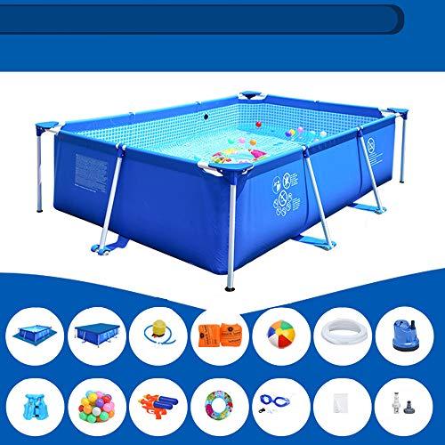 YIDPU Piscina 450x220x84cm,Gran Piscina Plegable para Niños Y Adultos,Material De PVC Resistente a Altas Temperaturas,Adecuada para El Entretenimiento Acuático De Verano