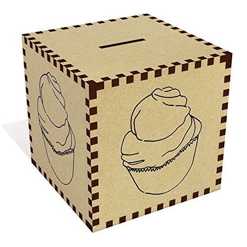 Azeeda Groß 'Zitronen-Meringue-Cupcake' Sparbüchse / Spardose (MB00035632)