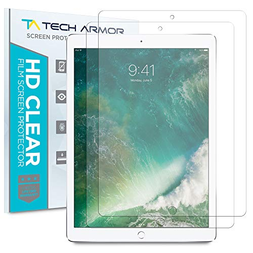Tech Armor Anti-Glare/Anti-Fingerprint Film Screen Protector for Apple iPad Pro 12.9-inch (2015 and 2017) [2-Pack]