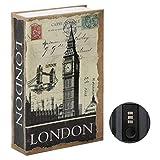 Parrency Buchsafe mit Zahlenschloss, versteckter Safe Lock Box, groß, Medium, 22 x 15 x 3.8 cm -...