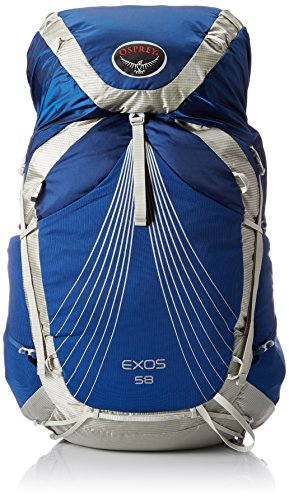 Osprey Packs Exos 58 Backpack (2017 Model), Pacific Blue, Small