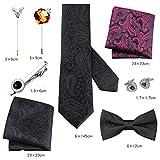 ZHONGCZ Corbata de negocios para hombre corbata de lazo traje regalo de cumpleaños boda novio regalo moda universidad formal corbata pajarita-Gran Sabiduría Set 23
