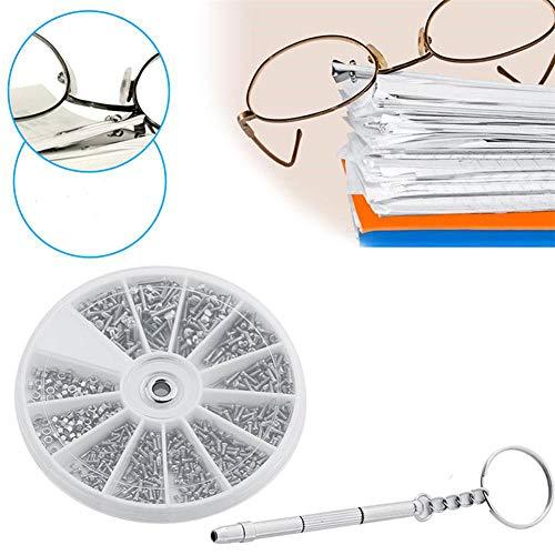 Ellepigy 600 Stücke Gläser Mini Schrauben Muttern Kit Sunglass Brillen Uhr Sortiment Repair Tool Set Mit Schraubendreher