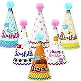 Biluer Cappellini per Feste, 30PCS Compleanno Cappello Party Cupcake Topper Cono Cappelli di Carta Perfetti per Qualsiasi Festa di Compleanno per Adulti O Bambini