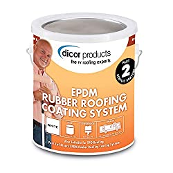 Dicor RPCRC1 RP-CRC-1 Rubber Roof Acrylic Coating Wht