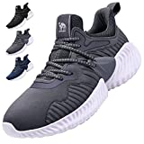 CAMEL CROWN Men's Running Shoes, Fashion Sneakers Athletic Casual Walking Jogging Footwear for Men Tennis Baseball Racquetball Cycling Darkgray