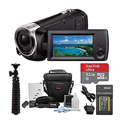 Sony HDR-CX440/B Full HD Video Handycam Camcorder Bundles from Sony