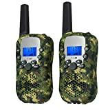 Proster Kids Walkie Talkies New Version LCD 22 Channels Wireless Walky Talky Toy Two-Way Radios for Children Friends Family Activities Outdoor Play (Camouflage)