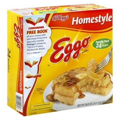EGGO WAFFLES HOMESTYLE FAMILY PACK 24 CT PACK OF 2