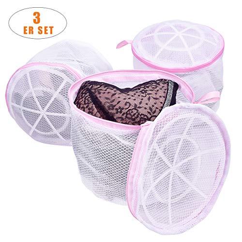 TANTAI_CARE Wäschebeutel, BH Wäschebeutel für die Waschmaschine, Haltbarer Doppelschicht Netz-Wäschebeutel mit Reißverschluss für Unterwäsche, Feines,Socken und Baby Kleidung Usw (3er Set)