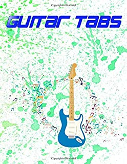Guitar Music Book: Guitar Tabs For Crazy Train Glossy Cover Design Cream Paper Sheet Size 8.5 X 11 Inches ~ Bass - Notes #...