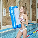 Himifuture Water Hammock, Swimming Pool Inflatable Floating Bed Floating Chair, Water Sofa, Beach Mat for Swimming Pool Beach Sea, Dark Blue