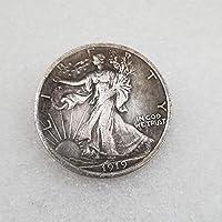 コインコレクション記念コインクラフトアメリカ合衆国1919年、半ドル、真鍮、銀、古いコイン、記念コインコレクターへの楽しいギフト